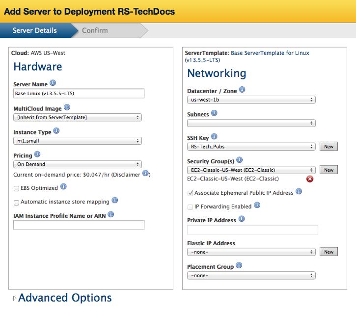 ServerTemplate Actions and Procedures